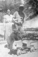 Juanita & Ralph Morrow with Maggie the bear