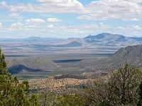 Looking east from Coronado National Forest, Morrow Ranch 200 acres in foreground, San Simon Valley in distance; Summer, 2008